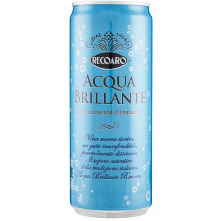 Acqua Brillante Recoaro 0,33 Lattina Sleek
